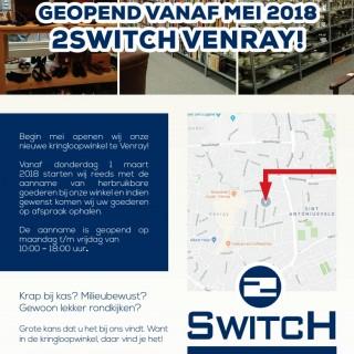 Inzameling nieuwe 2Switch Kringloopwinkel in Venray op 1 maart 2018 reeds gestart.