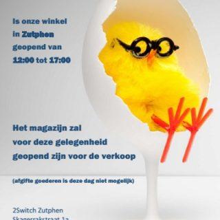 2Switch Zutphen op tweede paasdag, maandag 2 april, geopend!