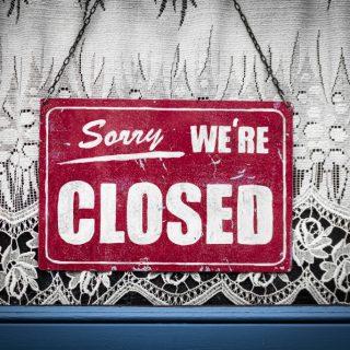 Winkels gesloten