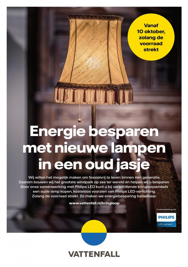 Nieuwe lamp in oud jasje