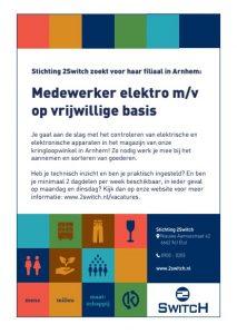 Vacature vrijwilliger elektra Arnhem